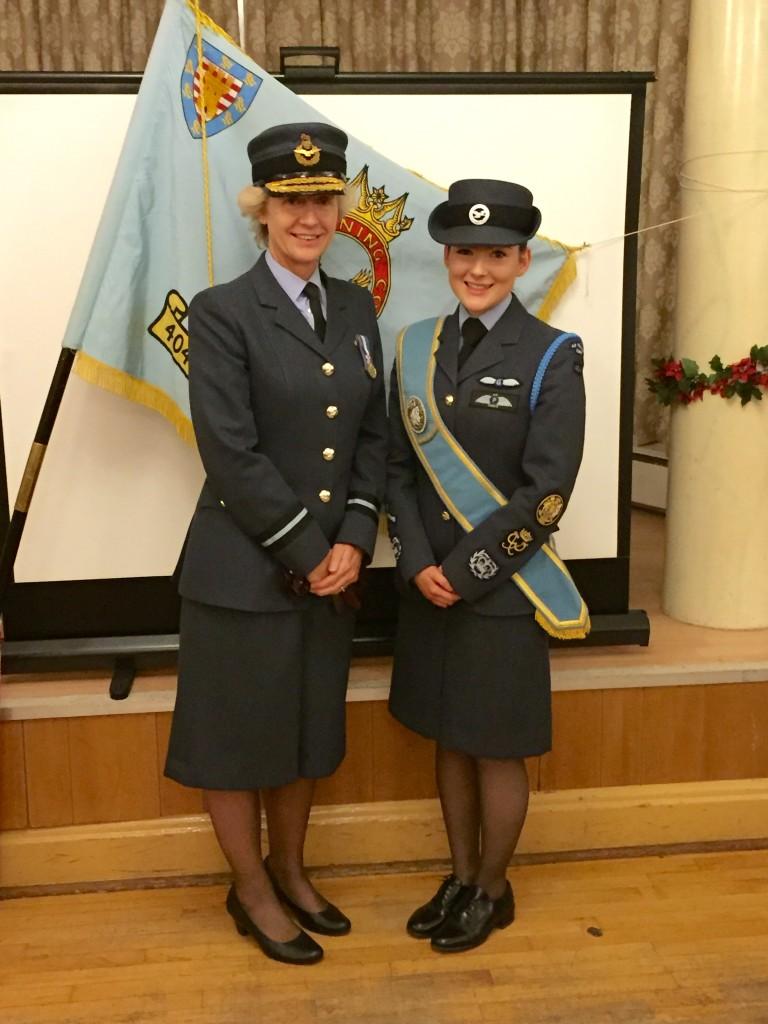 Bridget Donaldson with Air Commodore Dawn McCafferty Commandant RAF Air Cadets