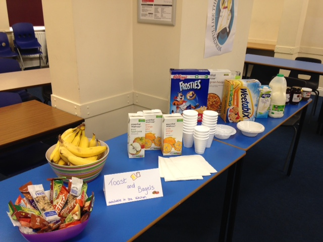Breakfast available to all Sixth Formers before all exams in the Common Room (08:00 - 08:45)