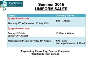 Uniform Sales 2015 SIGN