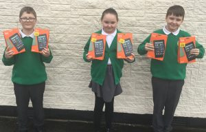 Children at St Alphonsus with the new tablets donated by North Ormesby Big Local