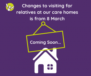 COVID-19 care home visits changing from 8 March