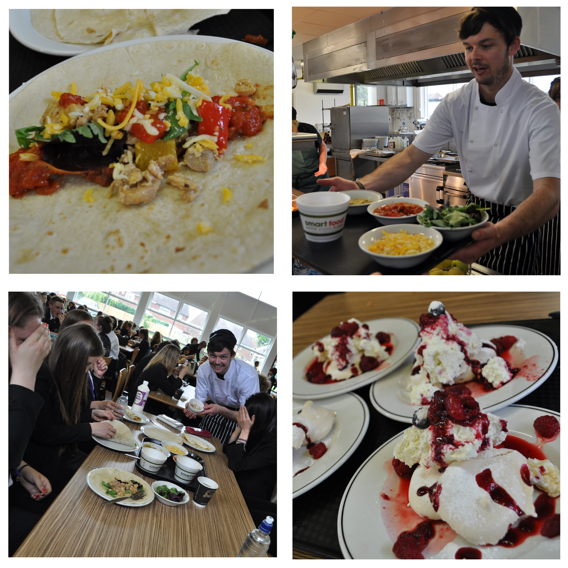 Mr Prytherch's team came up with a Mexican sharing platter on Friday.