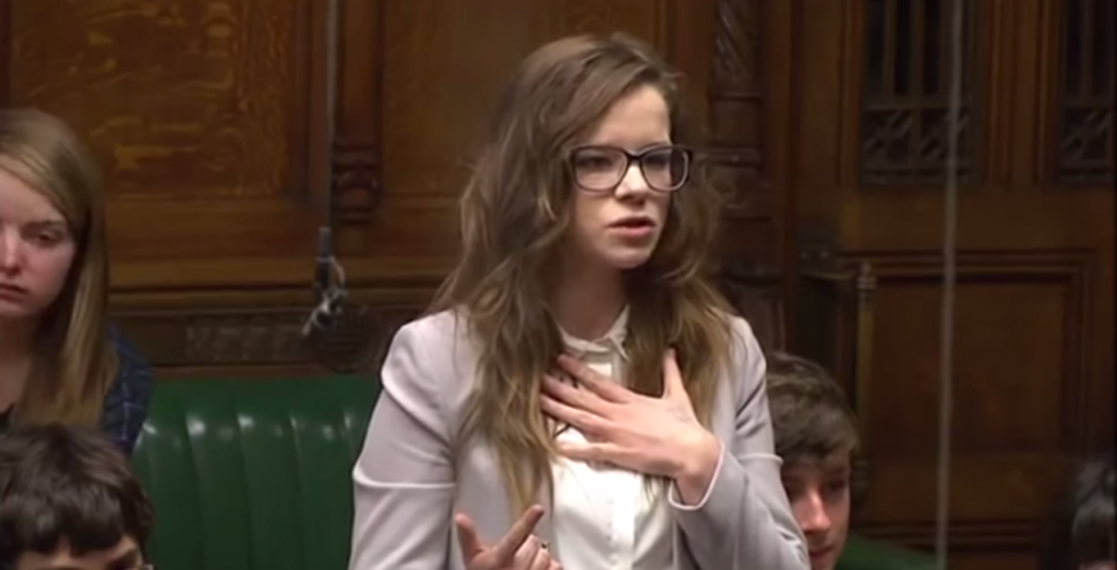 Rebecca at House of Commons