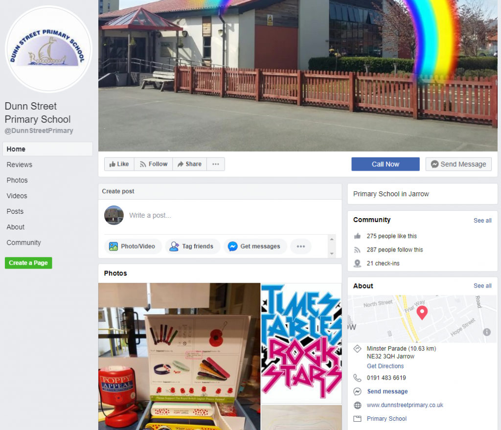 Click on the image to go to Dunn Street Primary School Facebook Page.