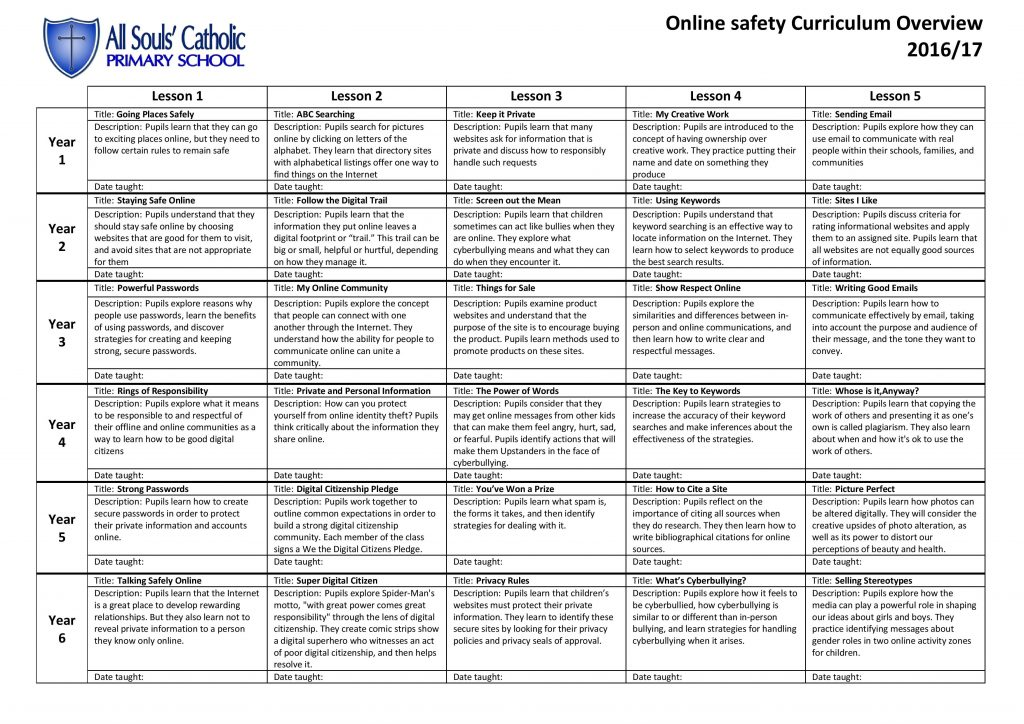 Online safety Curriculum Overview-page-001