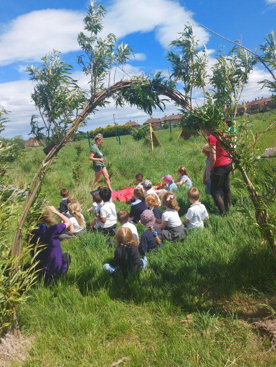 Children working on the Secret Garden