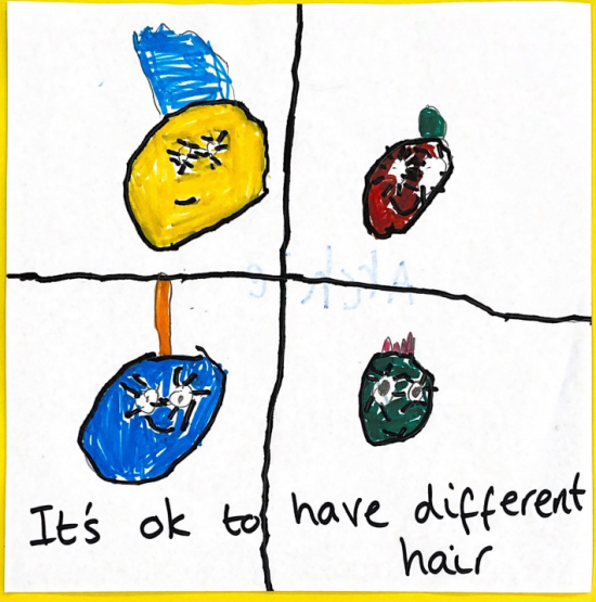 It's ok to have different hair