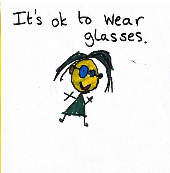 It's ok to wear glasses