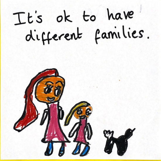 It's ok to have different families