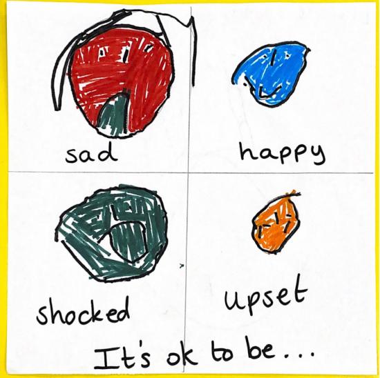 It's ok to be upset, shocked, sad, or happy