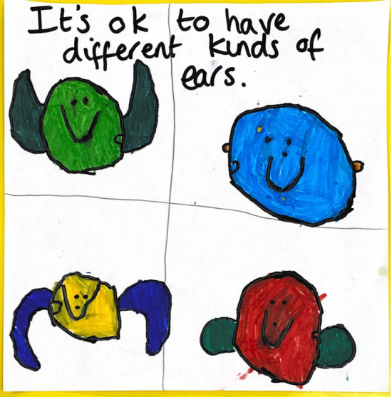It's ok to have different kinds of ears