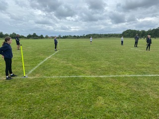 Year 6 children at the rounders tournament