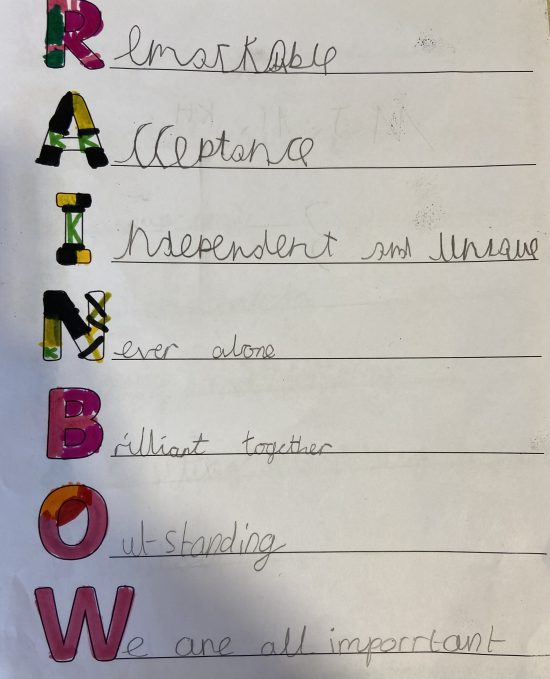 A Year 4 child's poem for Diversity Week