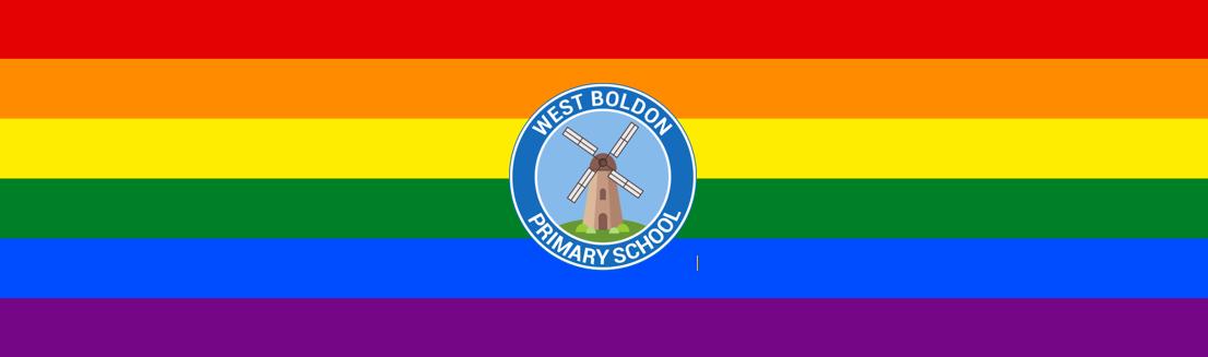 west boldon logo pride banner