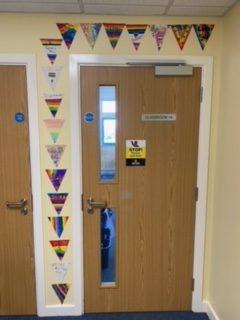 Year 6s decorated door
