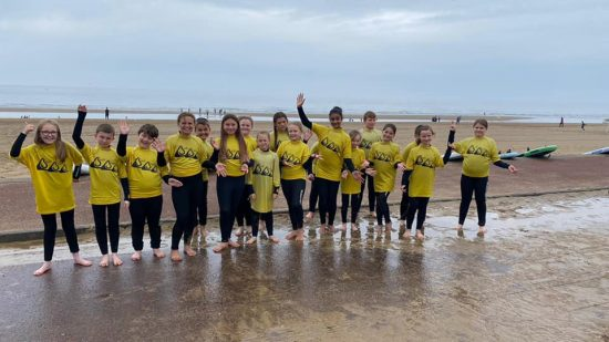 Year 5 ready to surf