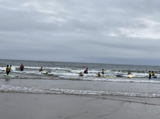 Year 6 surfing