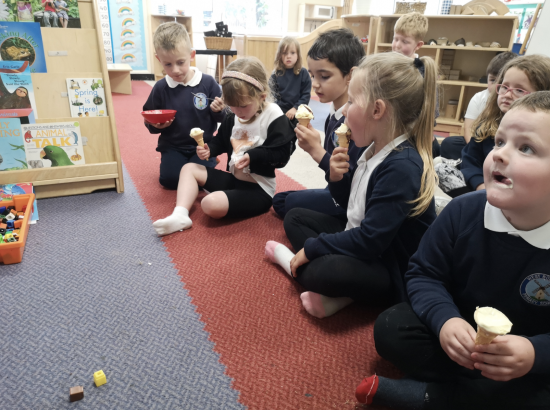 Reception and their ice creams