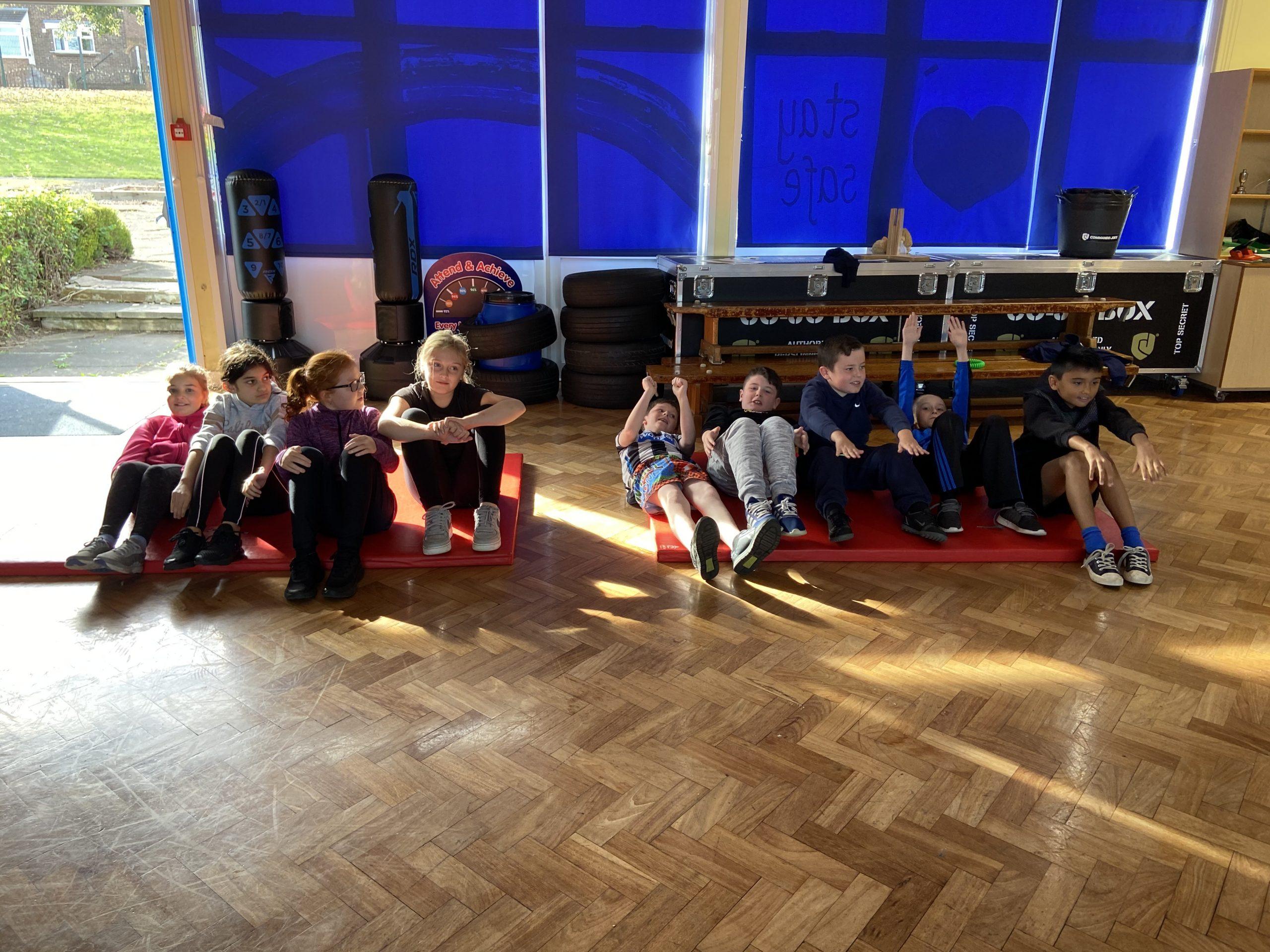 Year 6 enjoying their PT session