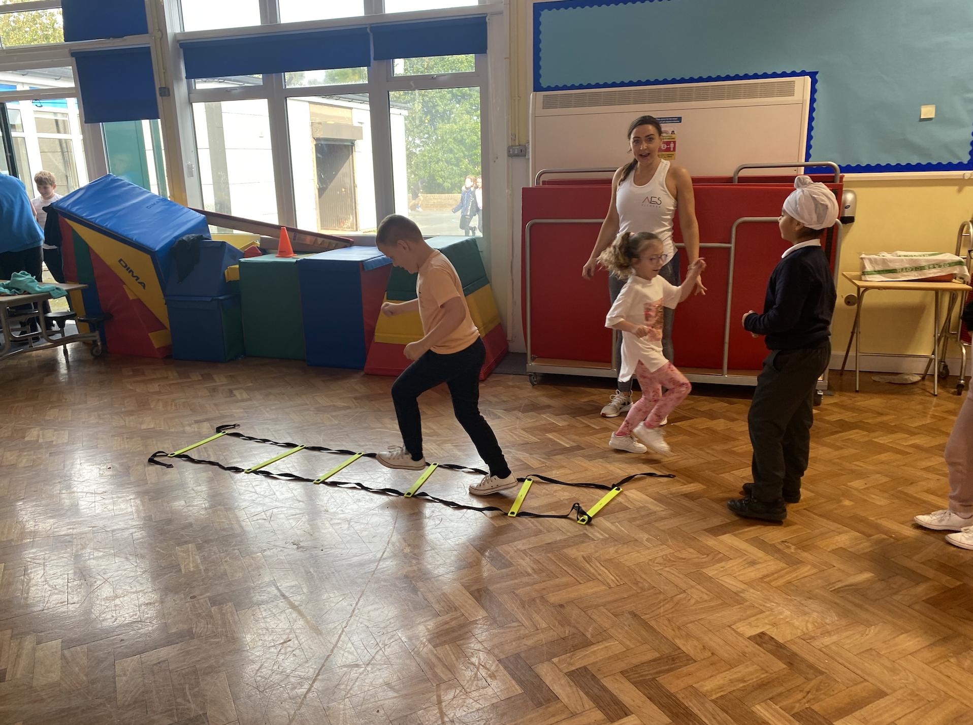 Year 3 children enjoying their PT session