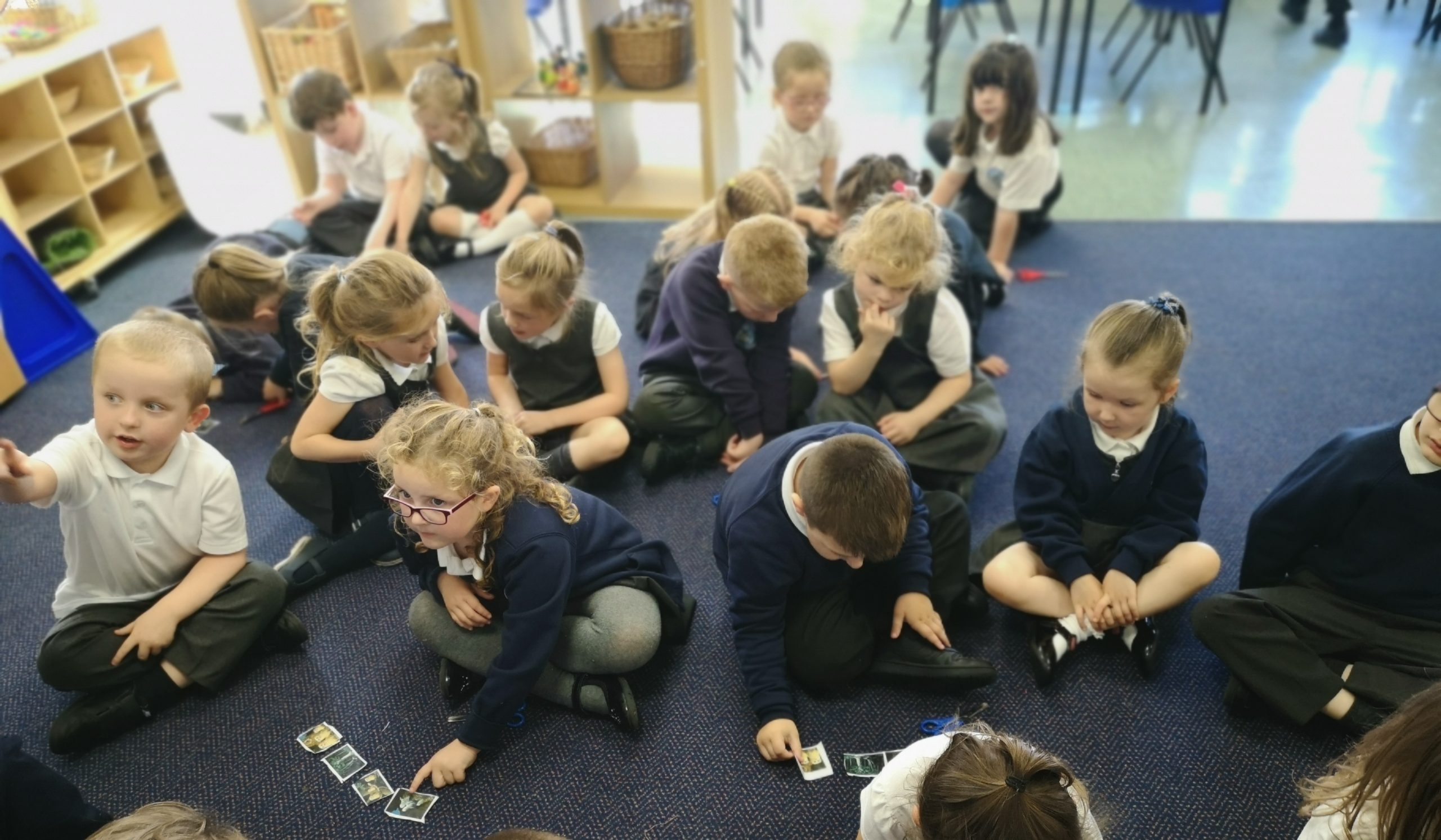 Year 1 reading Owl Babies in their Guided Reading lessons