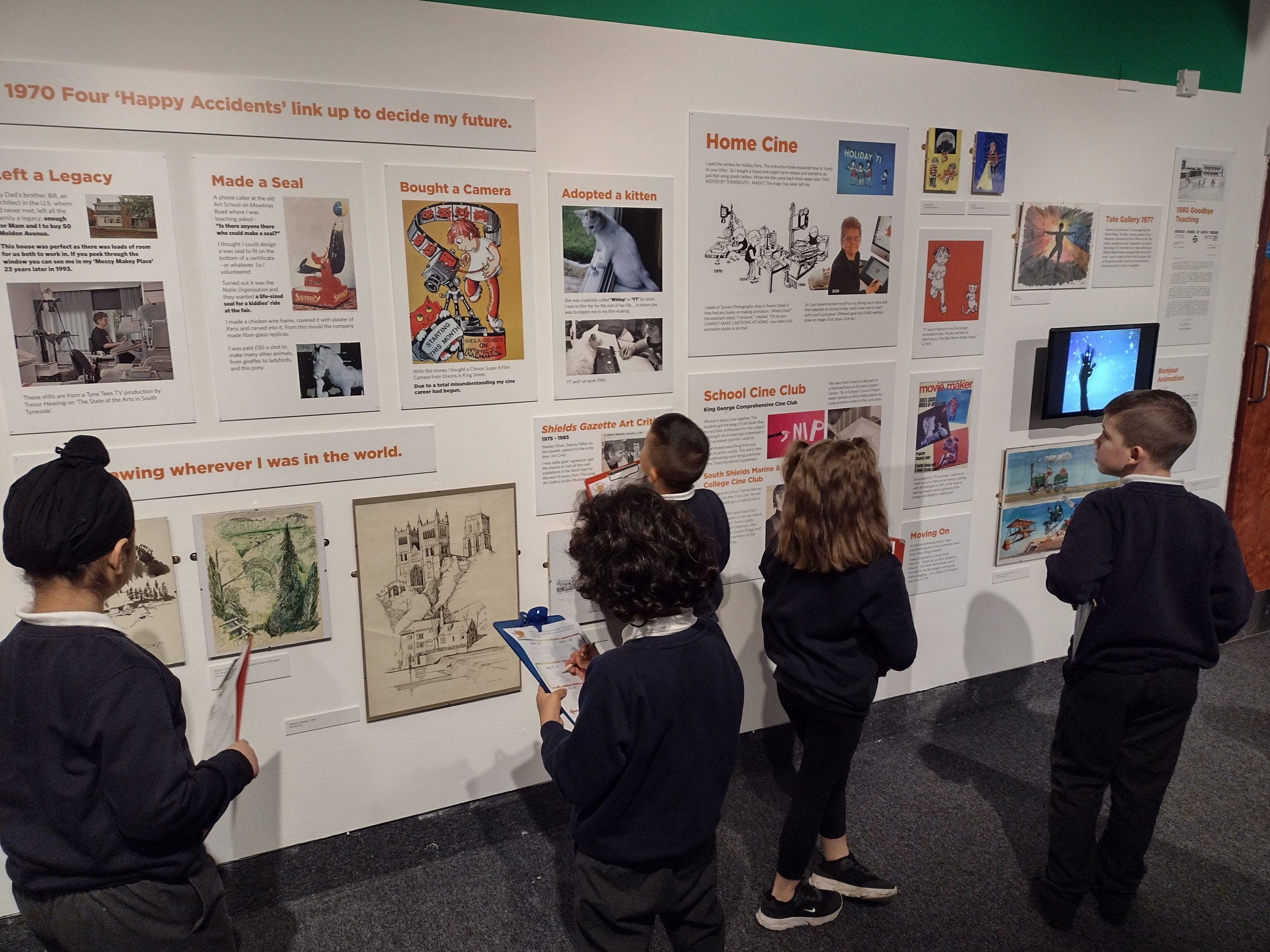 Children in the Sheila Graber exhibition