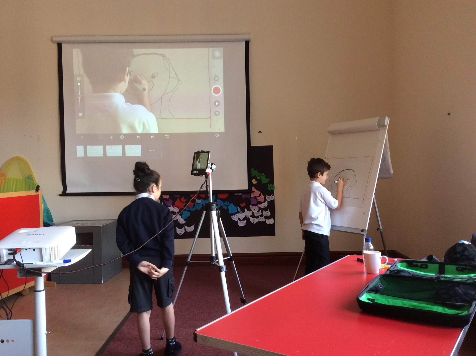 Children learning how to animate from Sheila