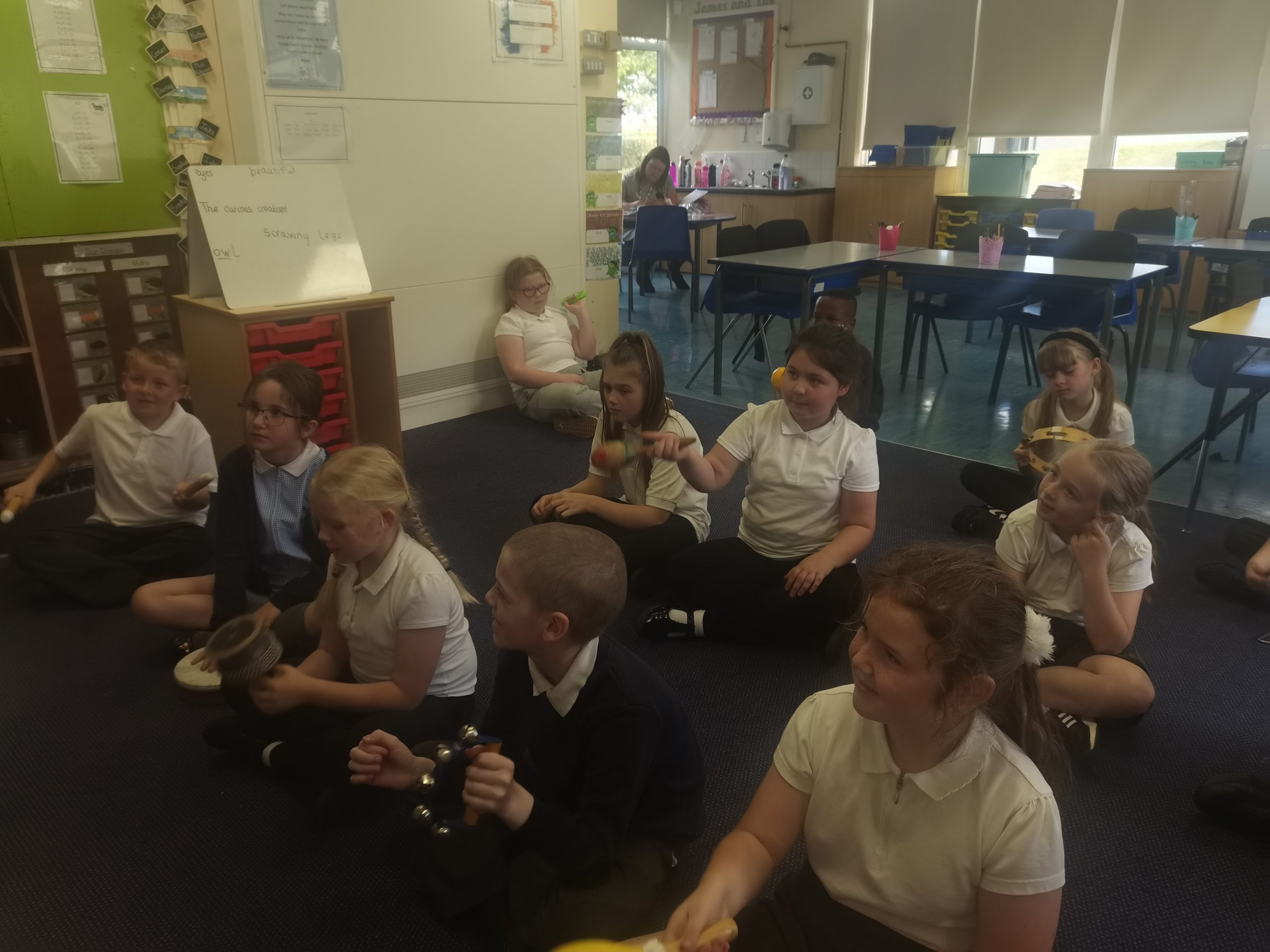 Class 10 in their music lessons this week