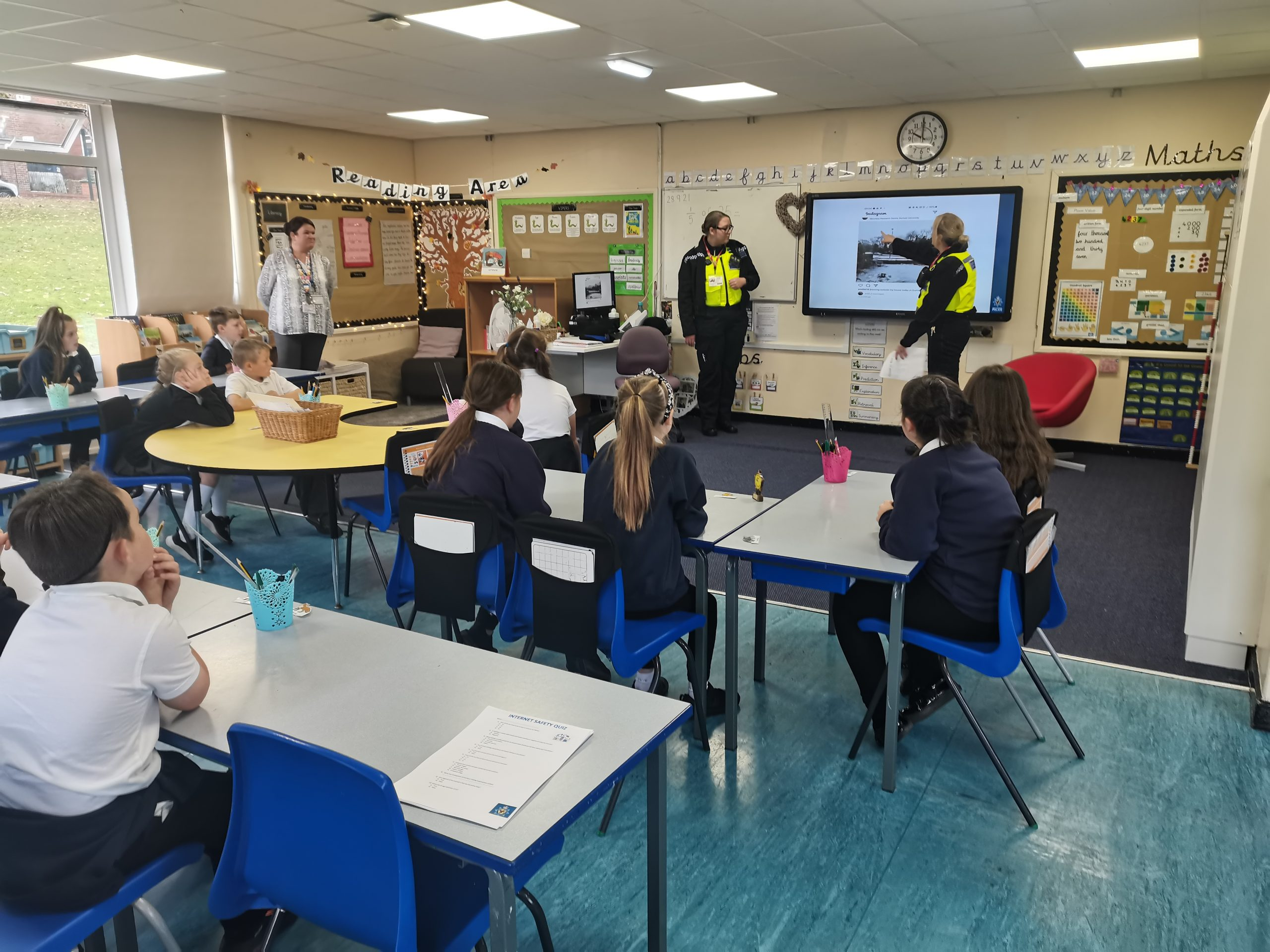 Class 10's visit from the police