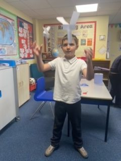 Year 6 investigating gravity in science