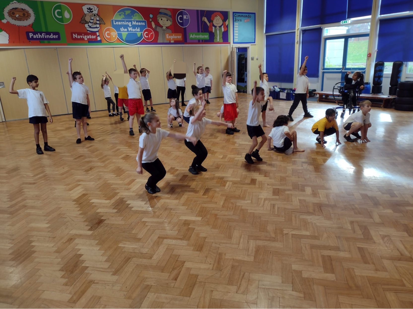 Year 3 children enjoying their dance lesson with Cheryl
