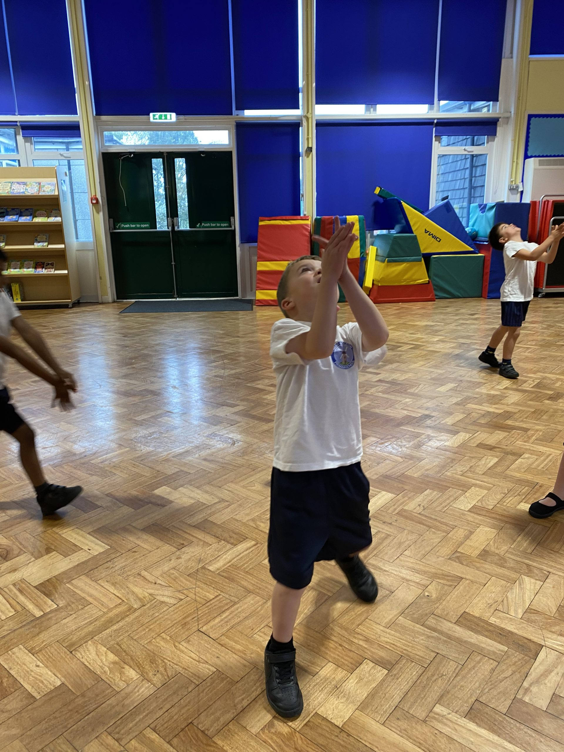 Year 1 working on their ball skills