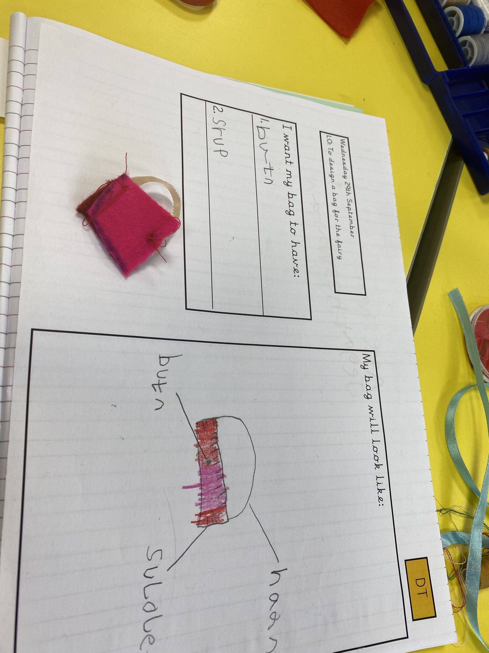 Class 4's fairy bags