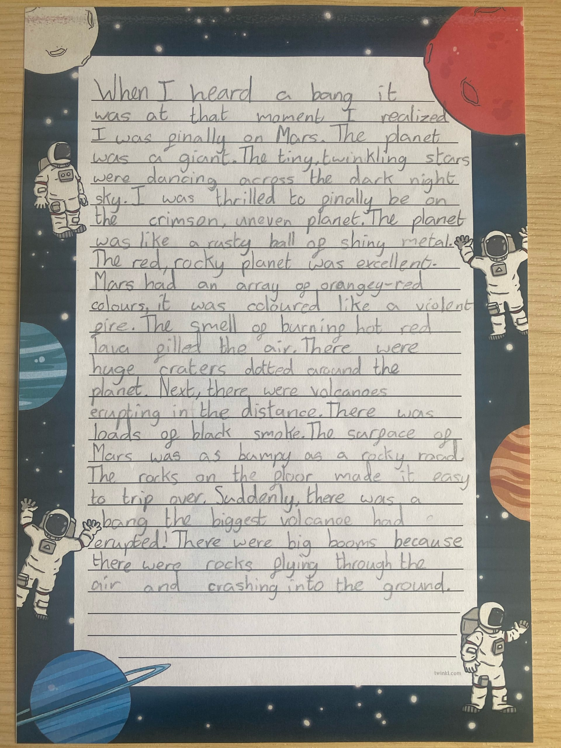 An example of a Year 5 setting description